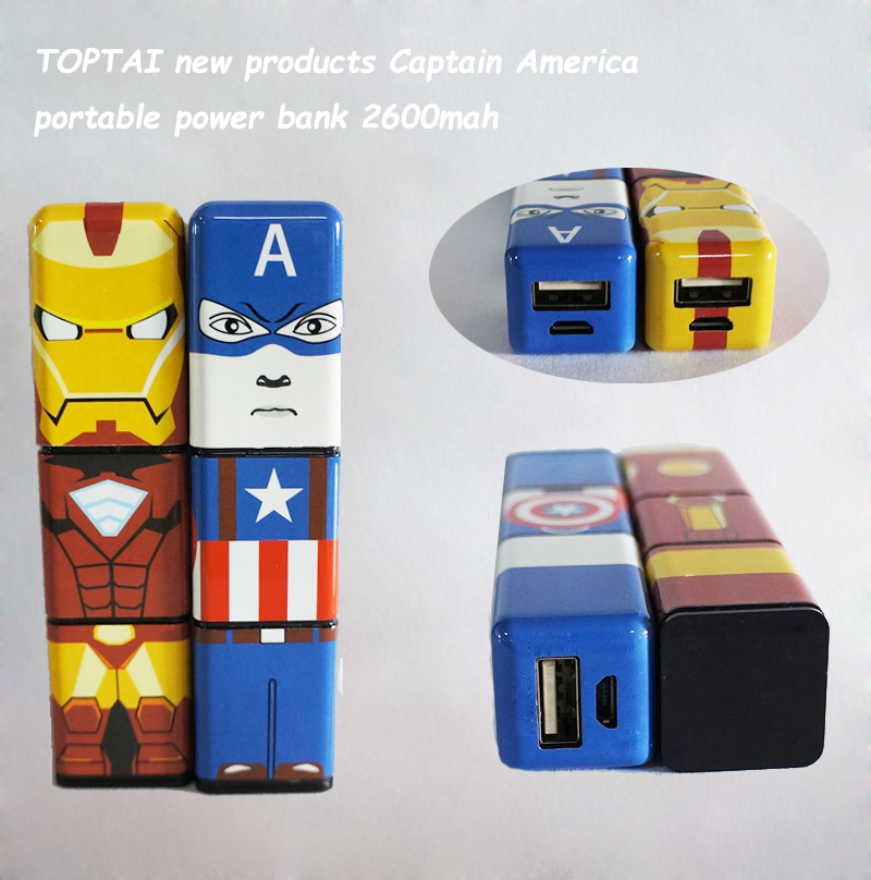 TOPTAI new products power bank 2600mah portable