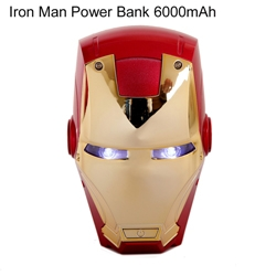 Hot selling products 2016 IRON MAN power bank 6000mah wholesale
