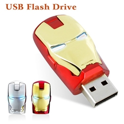 Iron man  8G 16G 32G 64gb usb Key usb Ironman flash drive pen drive USB 2.0 flash metal memory stick