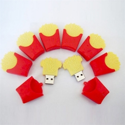 Free Sample New fashion McDonald's fries model usb 2.0 memory stick pen thumb drive 1M-64GB