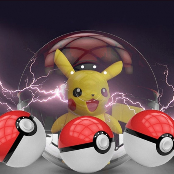 Top selling pokemon pokeball power bank charger