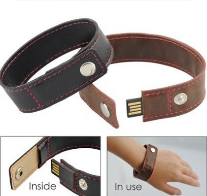 Fashion bracelet leather usb ...