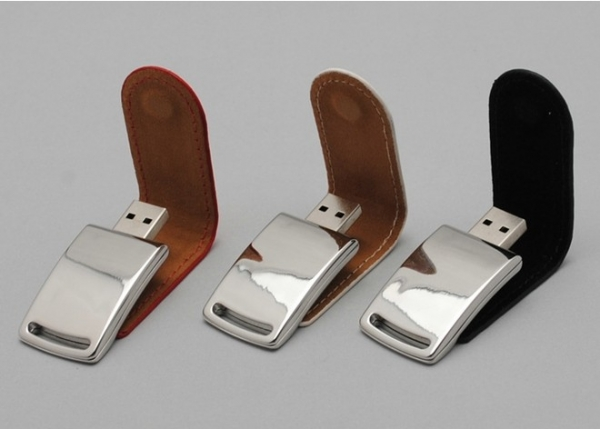 Custom Logo Business Leather Metal USB 2.0/3.0 Memory Flash Stick Pen Drive 8GB