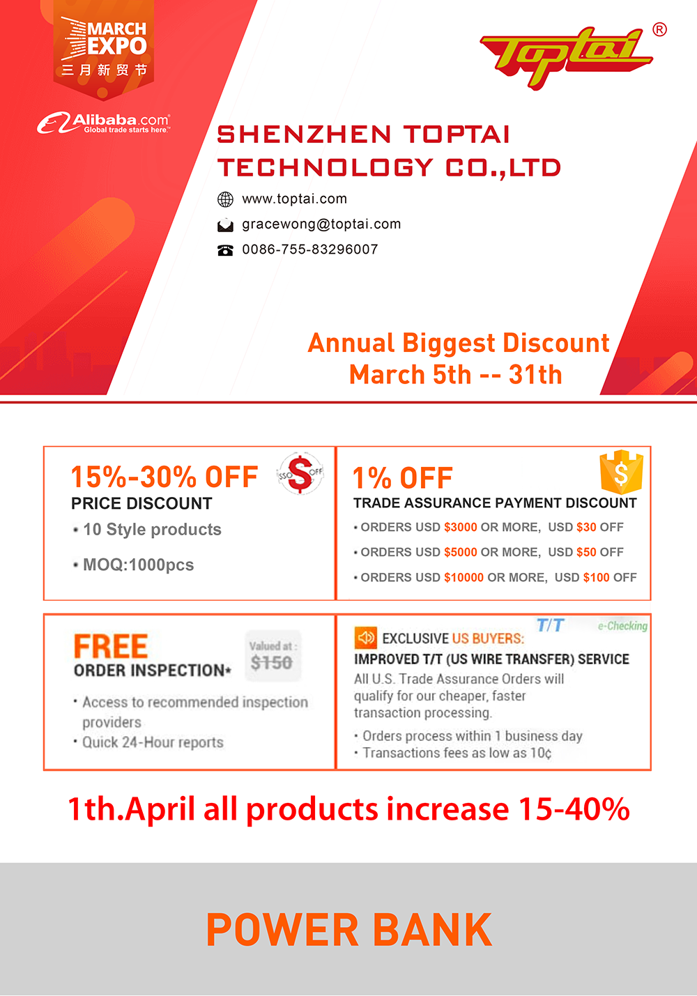 Annual Biggest Discount March