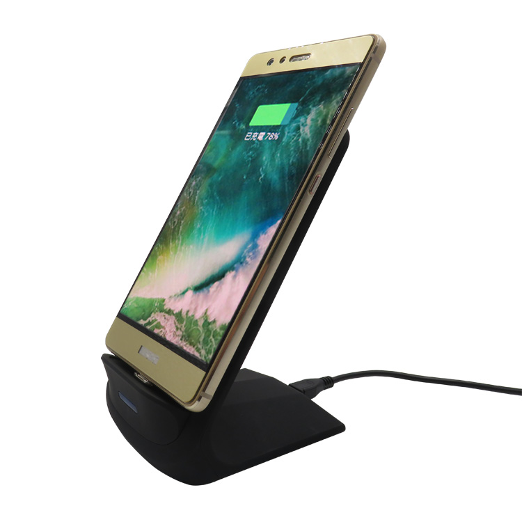 10W Stand Fast Wireless Charger with 2 Coils Wireless Charger