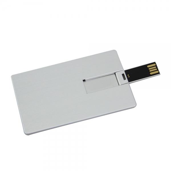 Custom Credit Card USB Flash Disk Metal Card Pen Drive Memory Stick