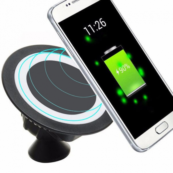 Car QI Wireless Charger Cell Phone Fast Charge Wireless Stand For Samsung Galaxy S6