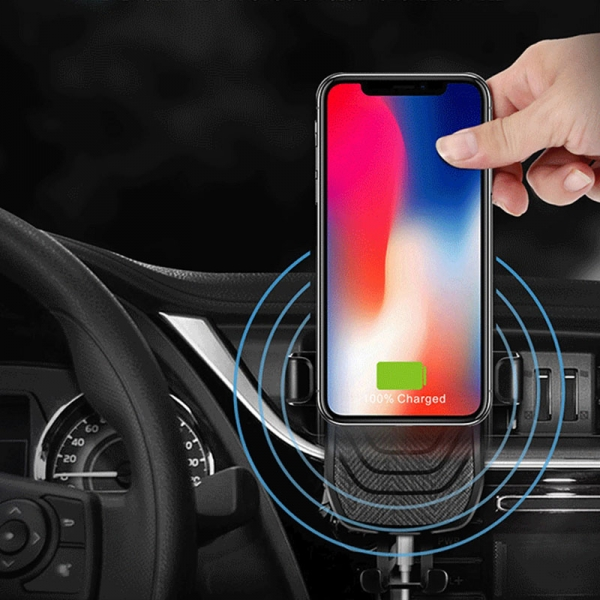 2018 Newest QI wireless car mount fast wireless charger, Gravity Sensor Car Mount Qi wireless charger