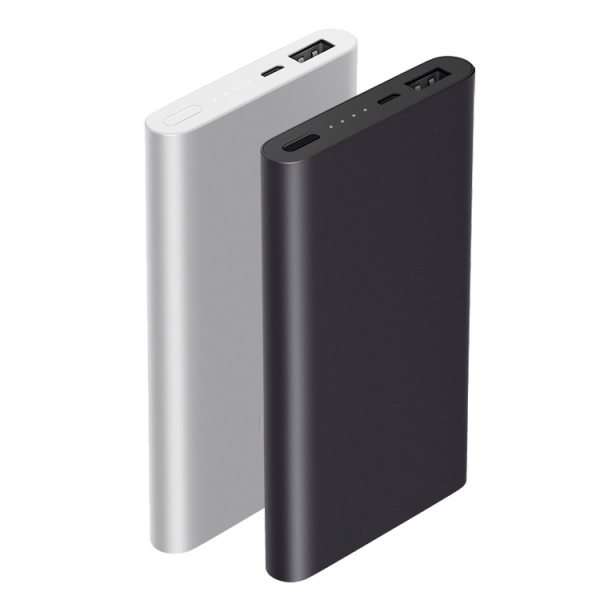 New black portable powerbank 10000 mah polymer power bank charger