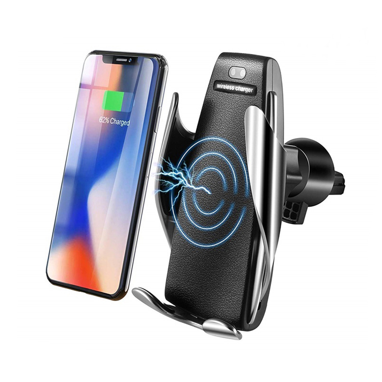 2019 New Product infrared sensor car charger holder 10W wireless car charger