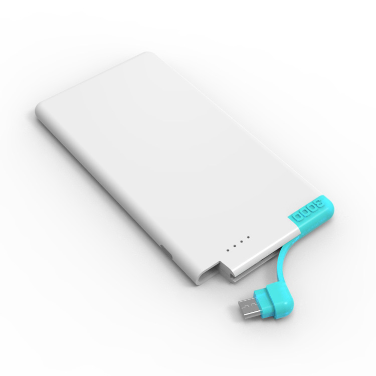Built in cable credit card Power Bank