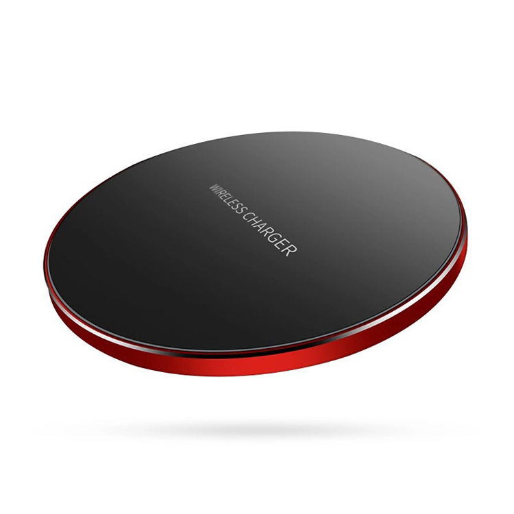 Fashion Portable Ultra-thin Round Fast Charging Wireless Charger apply Home