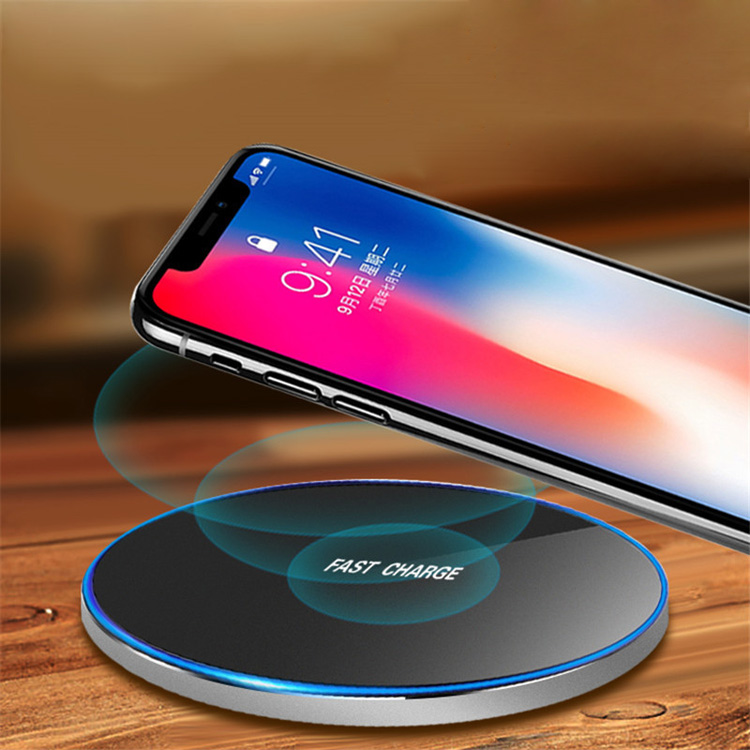 High quality Smart Metal desktop wireless charger mobile phone 10w fast qi wireless desktop charger