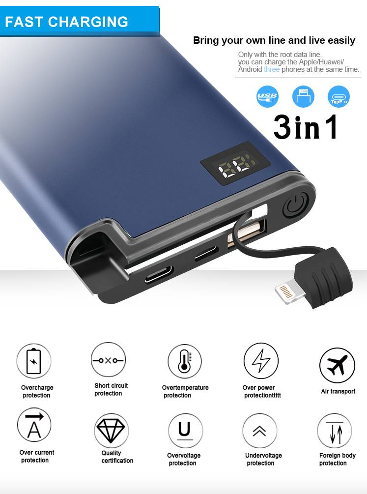 18W QC 3.0 Fast Charger Power Bank