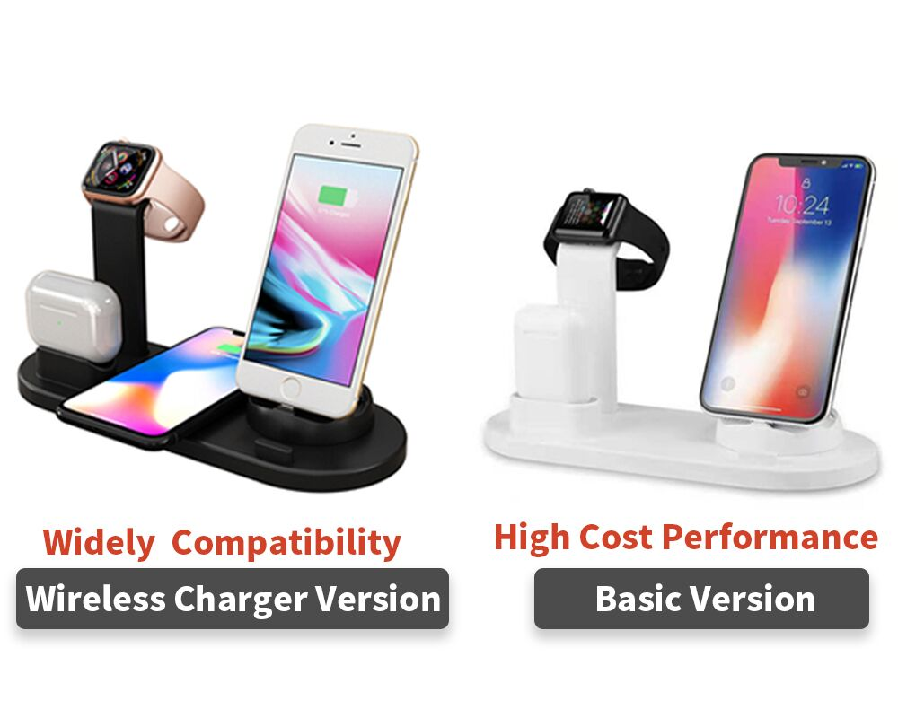 6 IN 1 Wireless chargers multifuction charger station galaxy wireless charger for mobile phone wirel